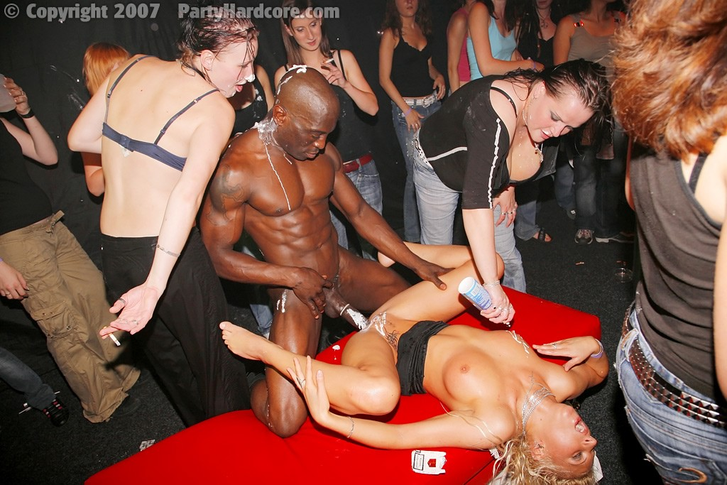 image Hot strippers partying and licking pussy after hours party